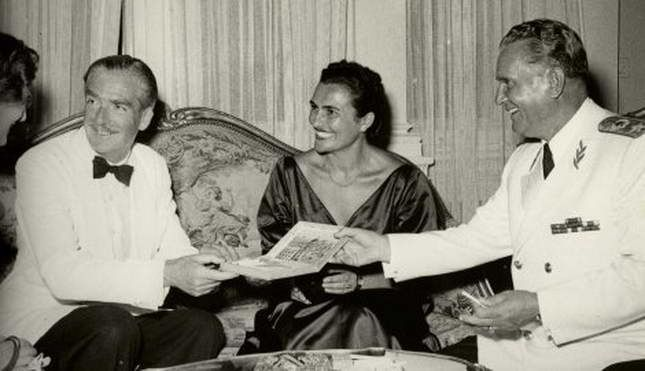 Jovanka Broz i Tito sa engleskim šefom diplomatije Entonijem Idnom