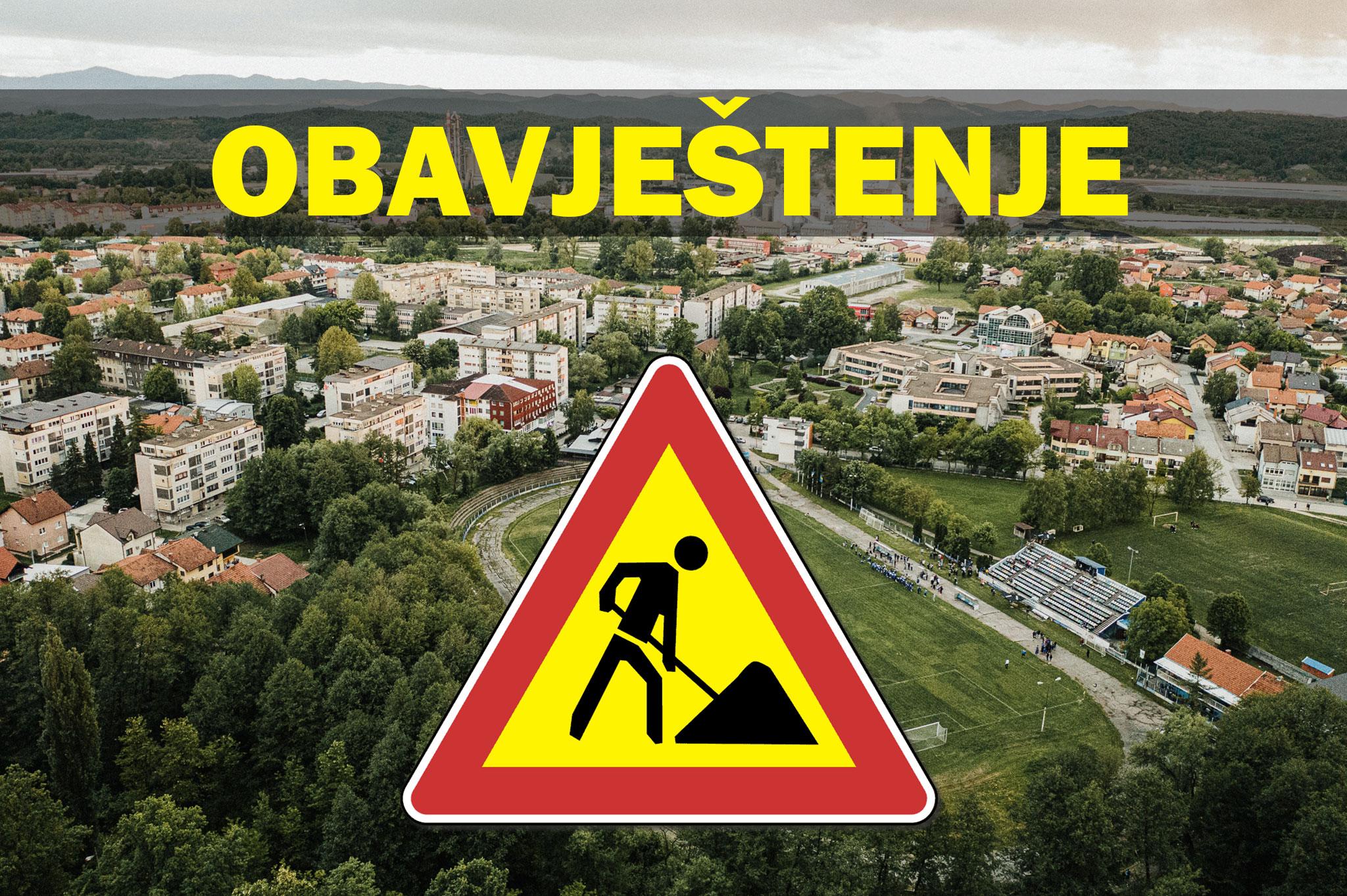 Obavijest o privremenoj izmjeni režima saobraćaja u Lukavcu
