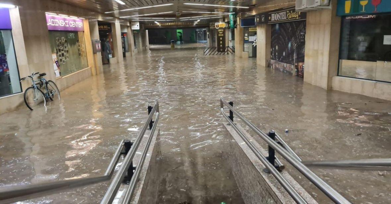 Snažno nevrijeme u Sloveniji, Ljubljana potopljena